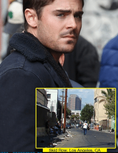 Zac Efron Punched on Skid Row