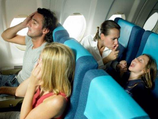 Who would you rather be? The young people traveling or the annoyed parent traveling?