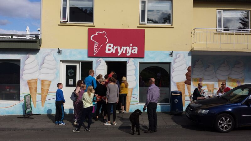 This is the best ice cream in Iceland - Brynja in Akureyri