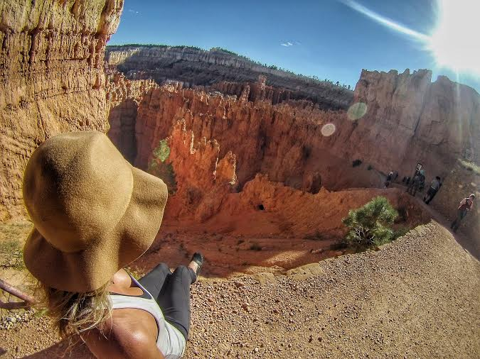 All the tourists at Bryce Canyon thought I was A) crazy B) a narcissist for using selfie stick (let's be serious, how else do you take an aerial pic of the back of your head?) or C) lost.