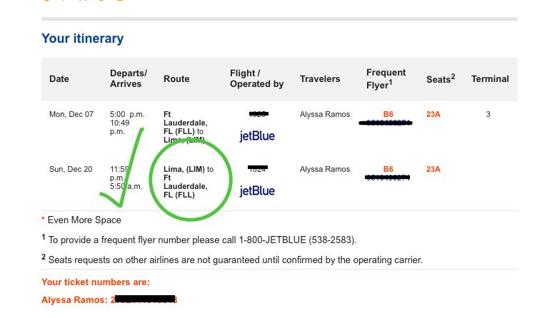 Print the flight confirmation back to your home country...