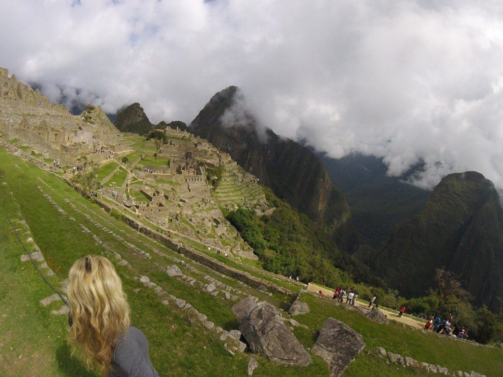 Then when they open the general entrance, Machu Picchu gets packed with tourists like a theme park