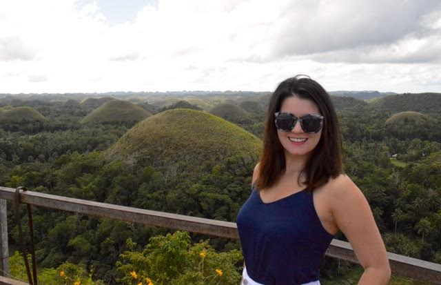 You can get a really good photo in front of the Chocolate Hills in the Philippines...