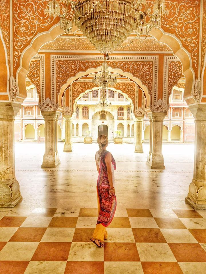 "The City Palace in Jaipur (Jaipur is also known as ""The Pink City"")"