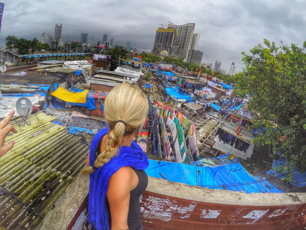 Dhobi Ghat - the largest outdoor laundry in the world, located in Mumbai