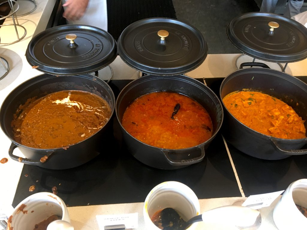 Classic Indian Dishes, Paneer Masala and Dal at The Lalit New Delhi