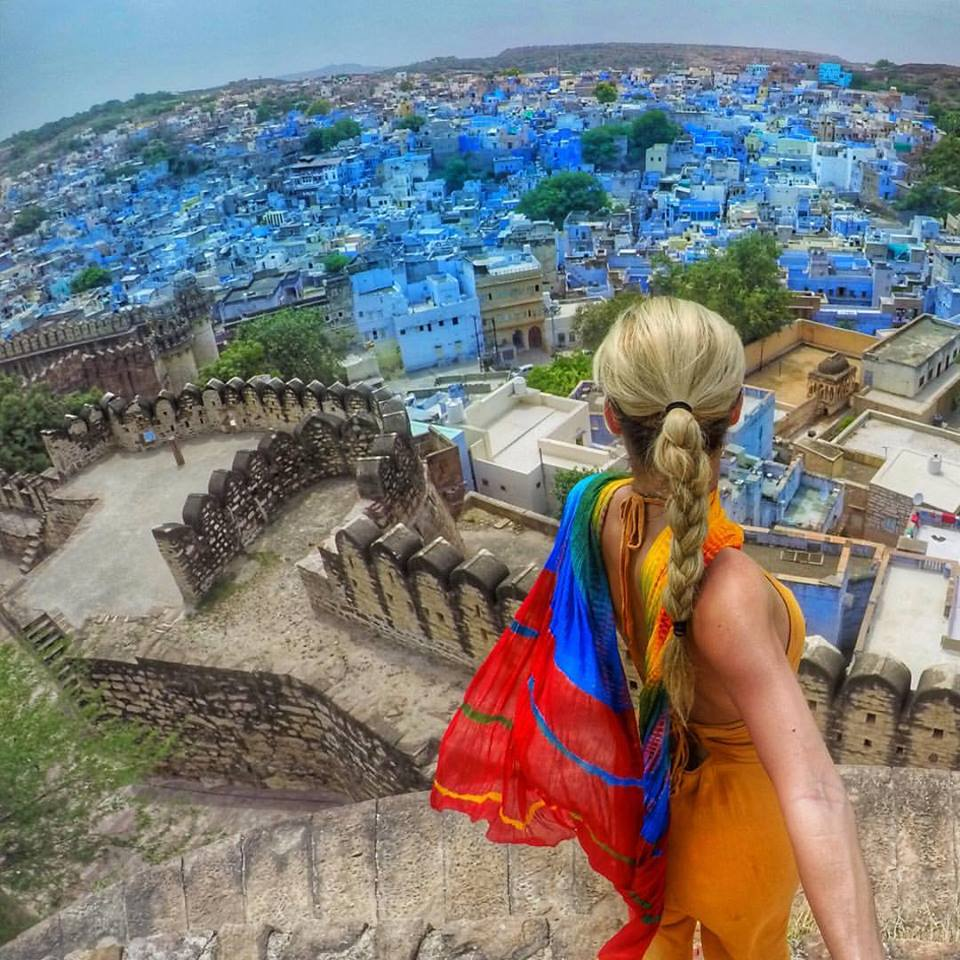 "View of Jodhpur, ""The Blue City"" from the base of Mehrangarh Fort in Jodhpur"