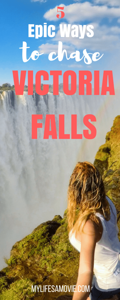 Victoria Falls in Livingstone, Zambia is one of the most epic waterfalls in the world! There's tons of ways you can chase this waterfall too! From flying over it, to bungee jumping in front of it, plus swimming in the infamous Devil's Pool! Here's all the details for my 5 favorite ways to chase Victoria Falls!