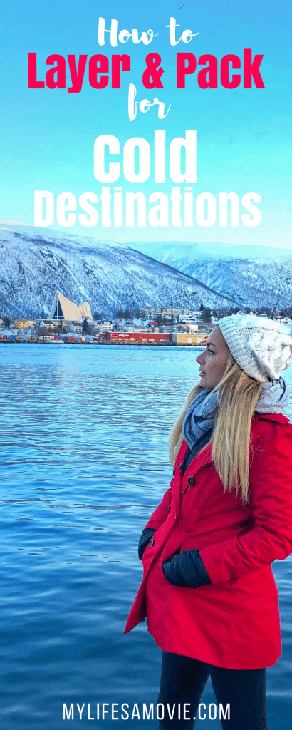 Full packing list for cold destinations as well as how to layer your clothing to stay warm, while still looking stylish!