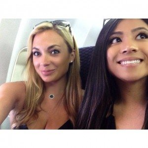 Getting caught taking a selfie on the plane