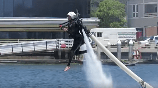 """This is the """"walking on water"""" trick...kind of..."""
