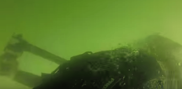 """This is the """"submarine"""", get it? I'm under water!"""