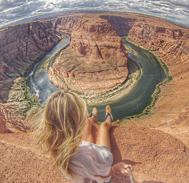 Horseshoe Bend is a cool looking ...bend...in the Colorado River right off the interstate 98 near Page,AZ