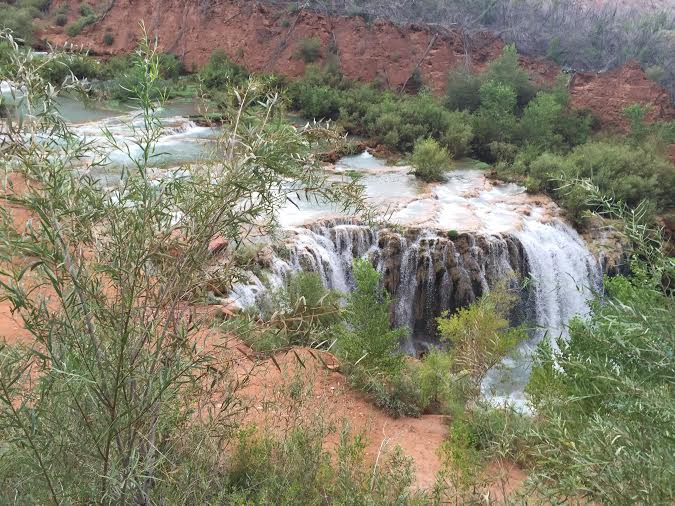 New Navajo Falls is the first waterfall on the way to Havasu Falls