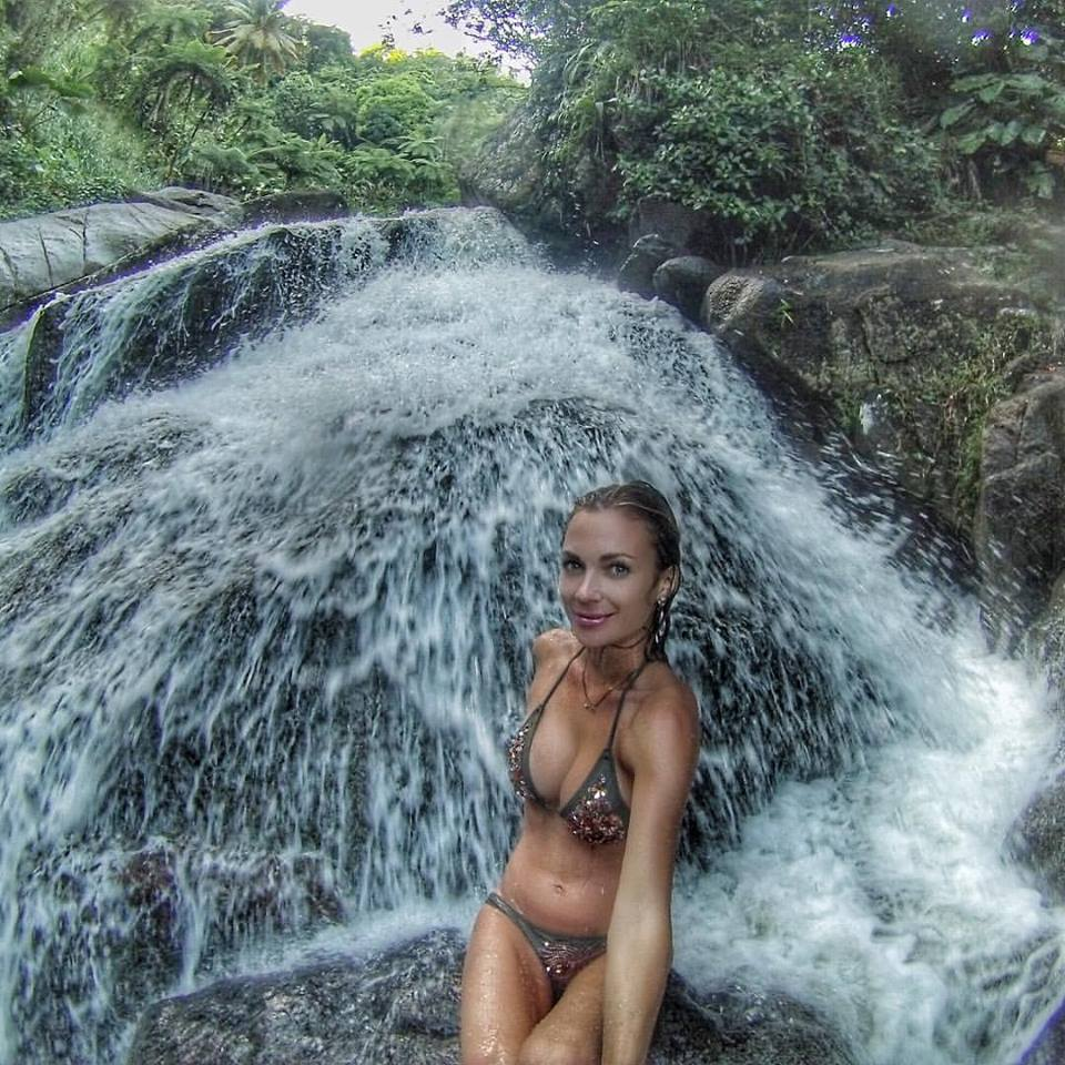 Secret waterfall only accessible by private trails from Casa Flamboyant!