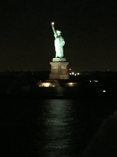Ermm...I didn't take a picture of the bathroom...so here's a cool view of the Statue of Liberty from the ship instead :D