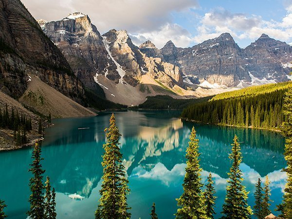 Lake Moraine, Banff National Park, photo by Nat Geo (obv)