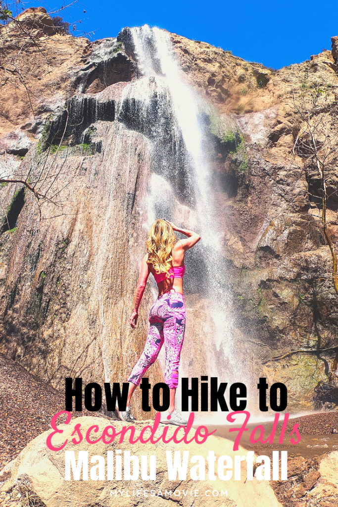 The only waterfall in LA is Escondido Falls in Malibu and right now it's flowing heavily! Here's how to do the Escondido Falls Malibu waterfall hike, and do it soon while there's still water!