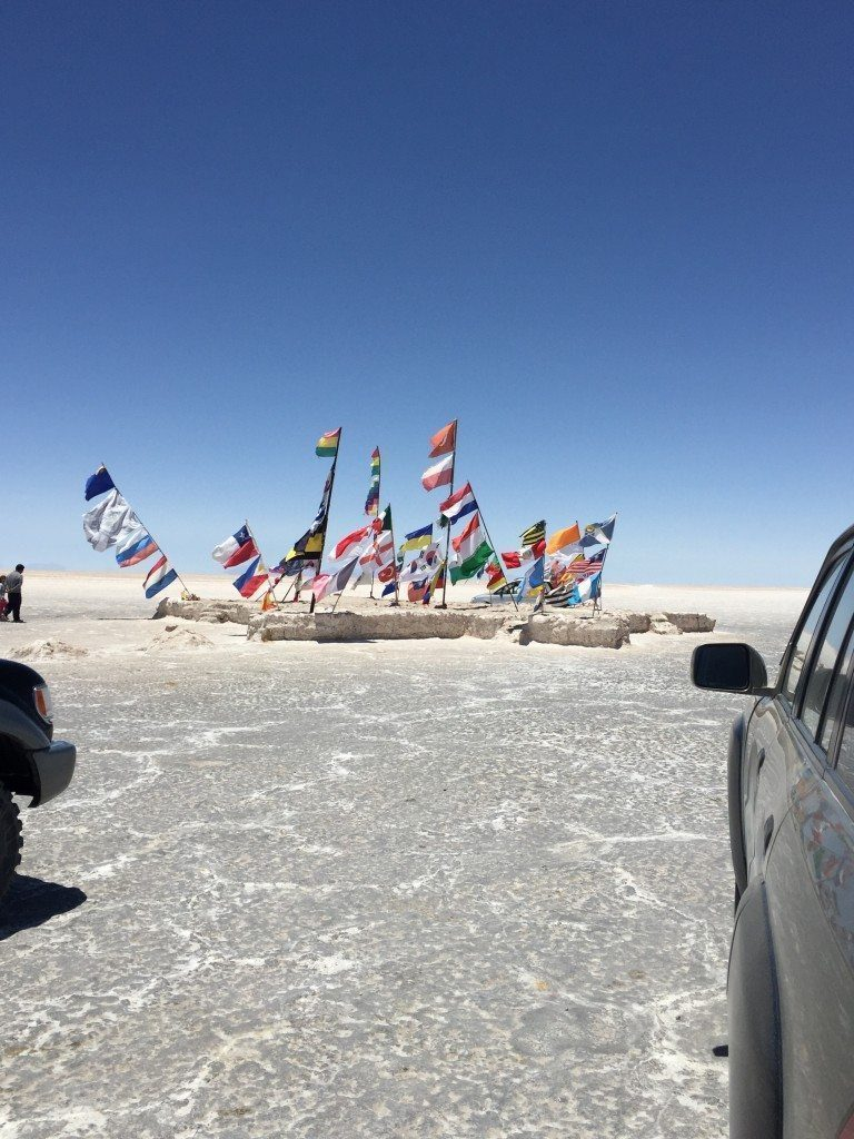 Salt Hotel (well, the flags in front of it)