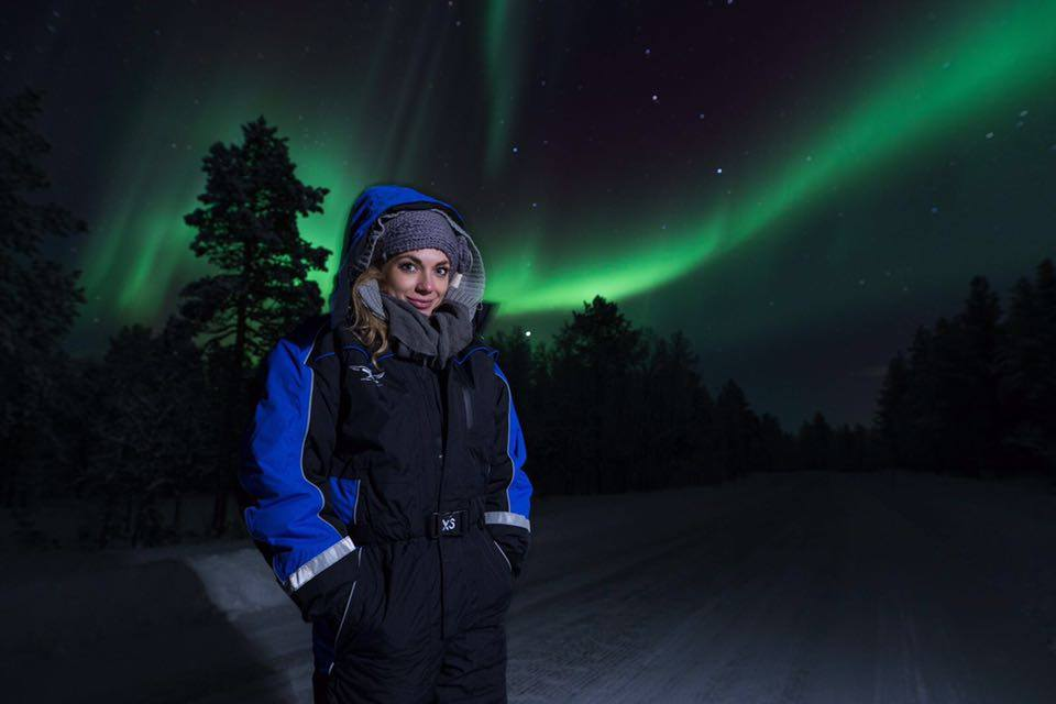 The night before I saw the brightest Northern Lights of the season...