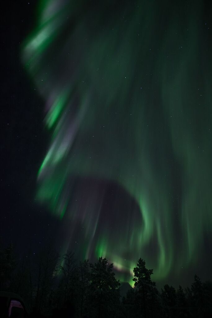Seeing other colors besides green in the Northern Lights is rare and means they lights are especially strong