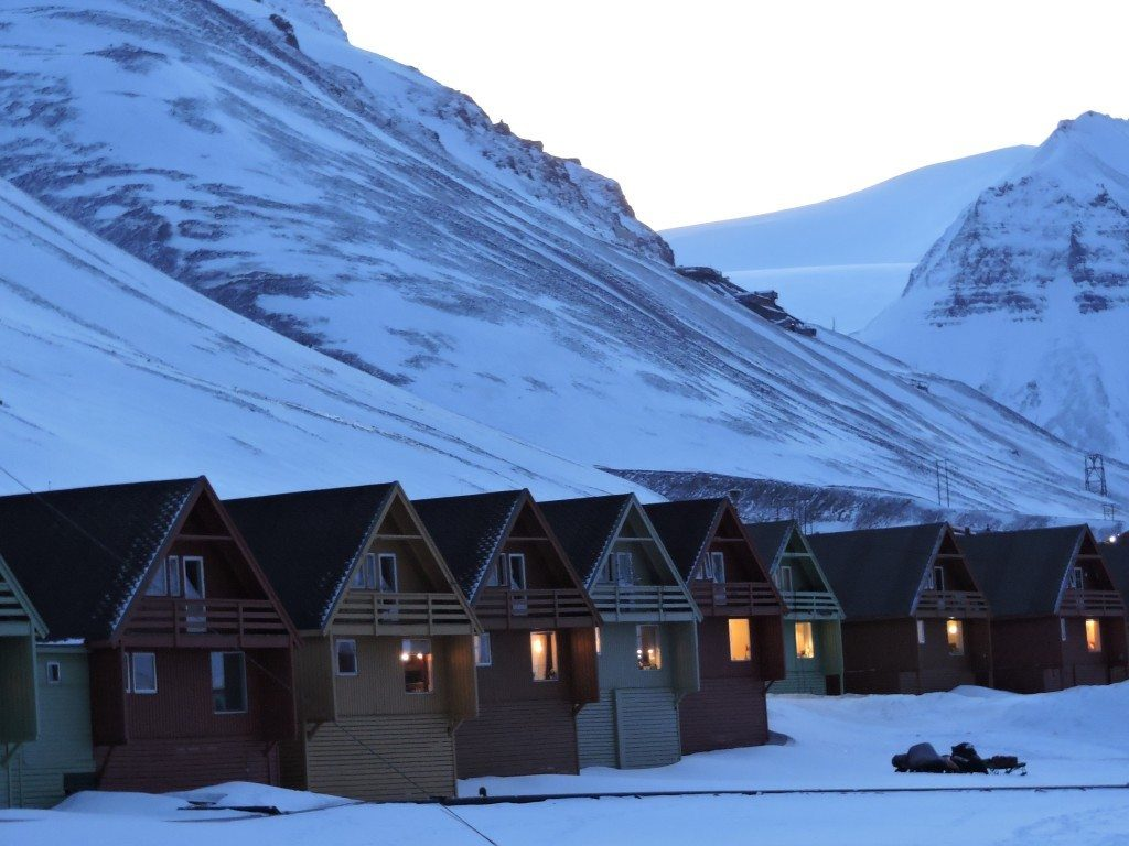 The houses in the main residential area