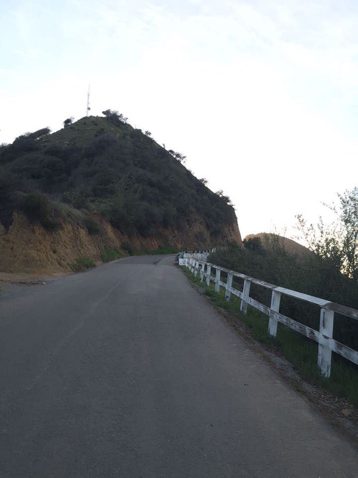 To the right is Studio City, and the Hollywood Sign is just on the other side of that peak