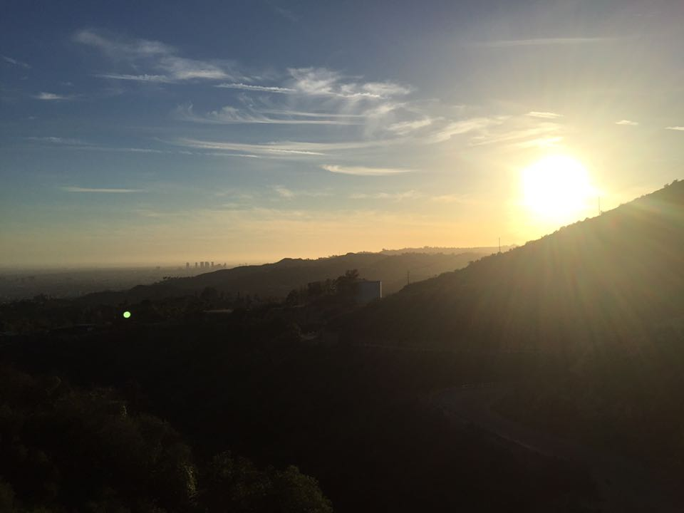 Doing the Hollywood Sign hike at sunset is beautiful but tricky..