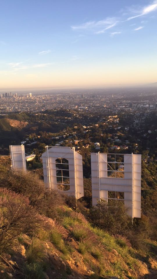The Hollywood Sign is massive, and a fence prevents people from climbing on it