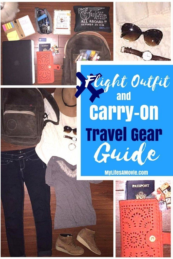 Flight Outfit and Carry on Travel Gear Guide mylifesamovie.com