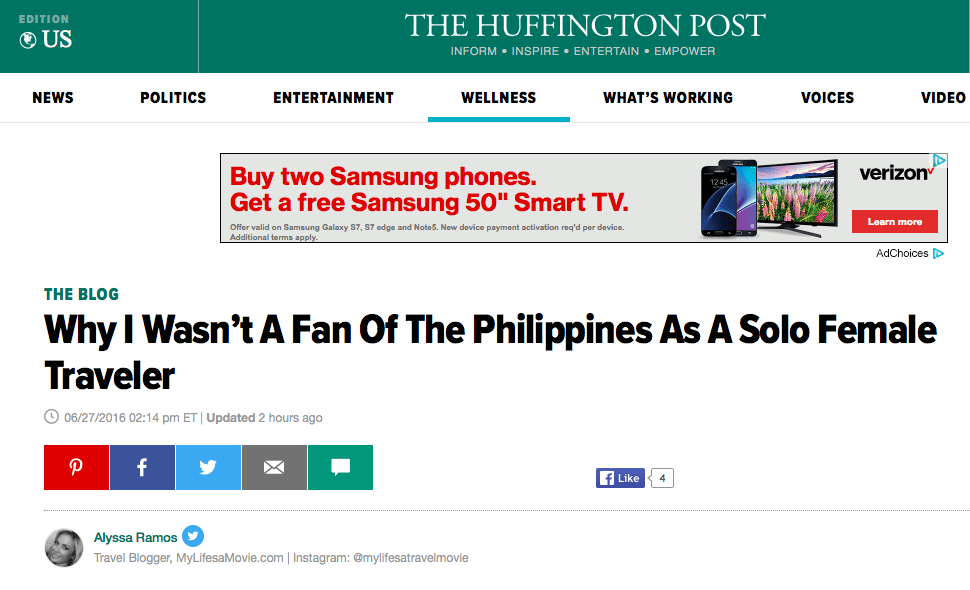 Huffington Post why I wasn't a fan of the philippines mylfesamovie.com