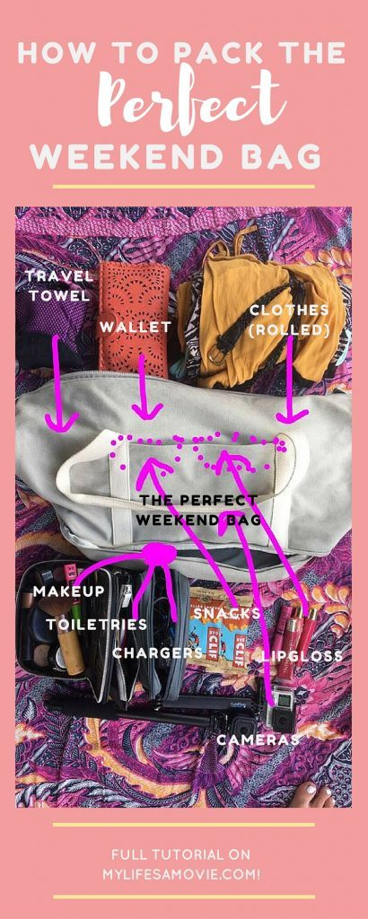 How to Pack the Perfect Weekend Bag mylifesamovie.com