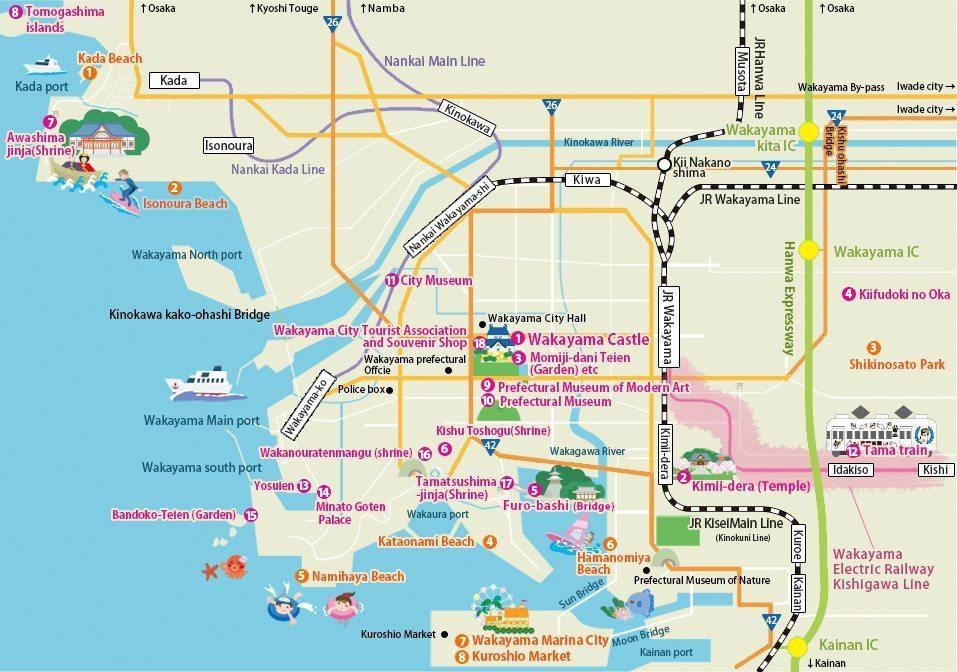 wakayama-sightseeing-map