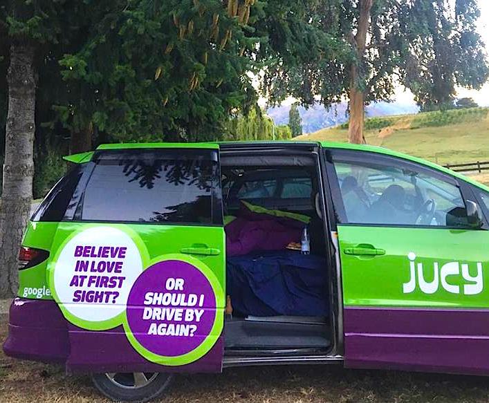 Jucy sleeper area New Zealand