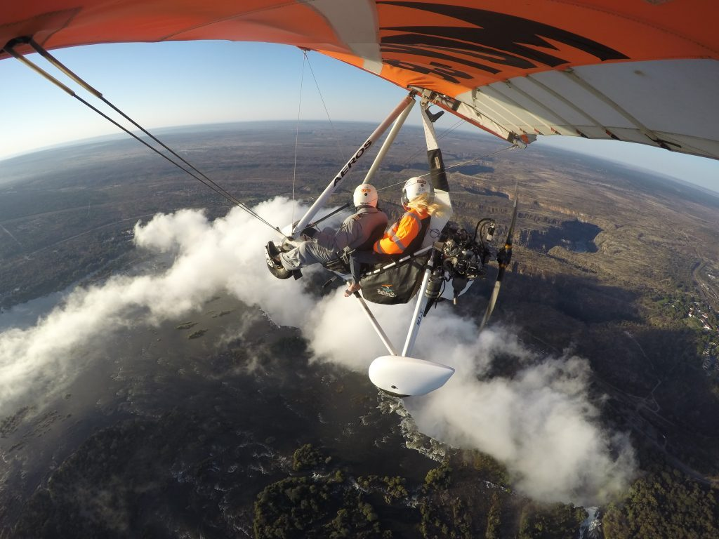 Microlight flight over Victoria Falls Livingstone Zambia mylifesamovie.com
