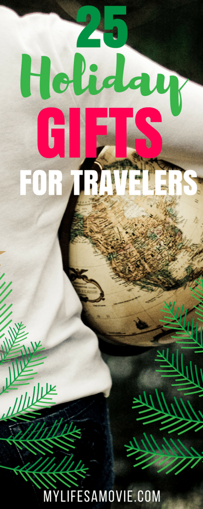 From wifi hotspots, to pepper spray, to customizable Legos! This list of 25 awesome holiday gifts for travelers made by a full time traveler, is everything you need! #travelgifts #holidaygifts #travel
