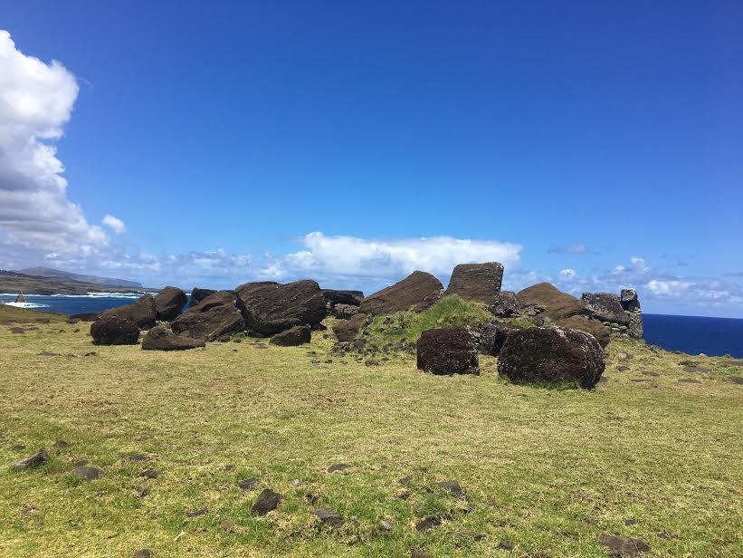 crumbled Moai Easter Island mylifesamovie.com