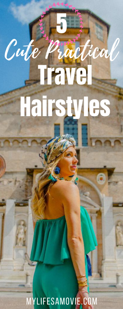 Easy, cute, and practical travel hairstyles for the ladies who like to keep their locks on lock! As a full time traveler, blogger, and influencer, I always have to have my hair somewhat nice looking, and these tricks are how I do it with minimal effort!