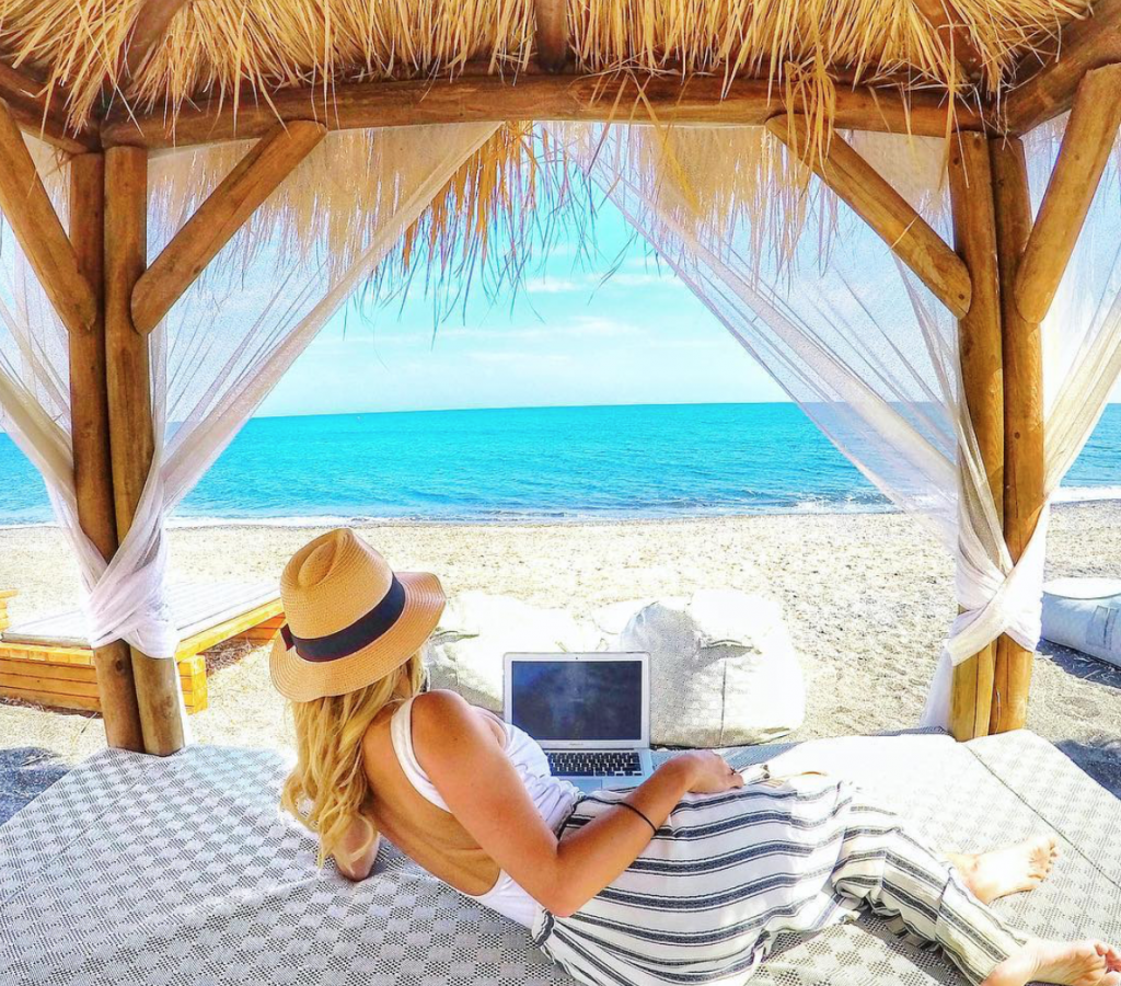 Web design can be done from anywhere in the world while traveling.