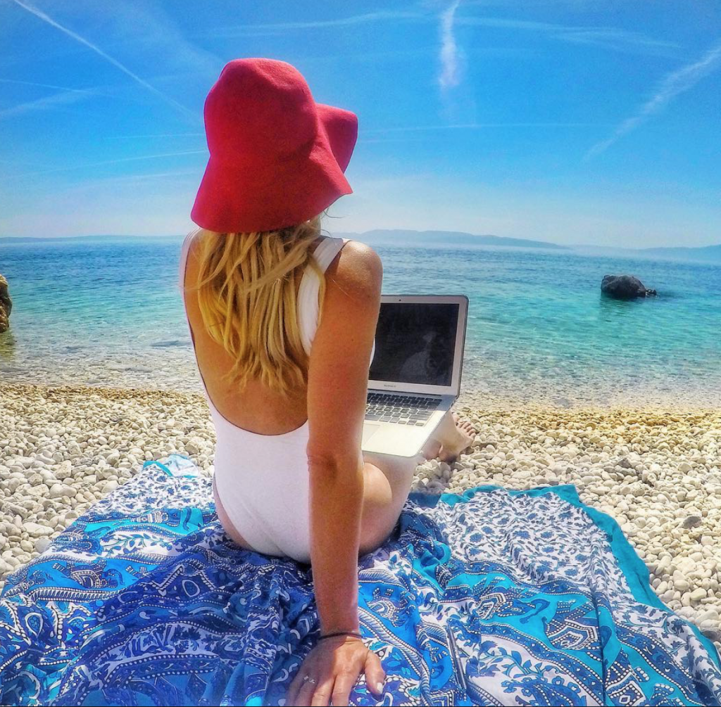 Freelance writing is a great job to do while traveling.