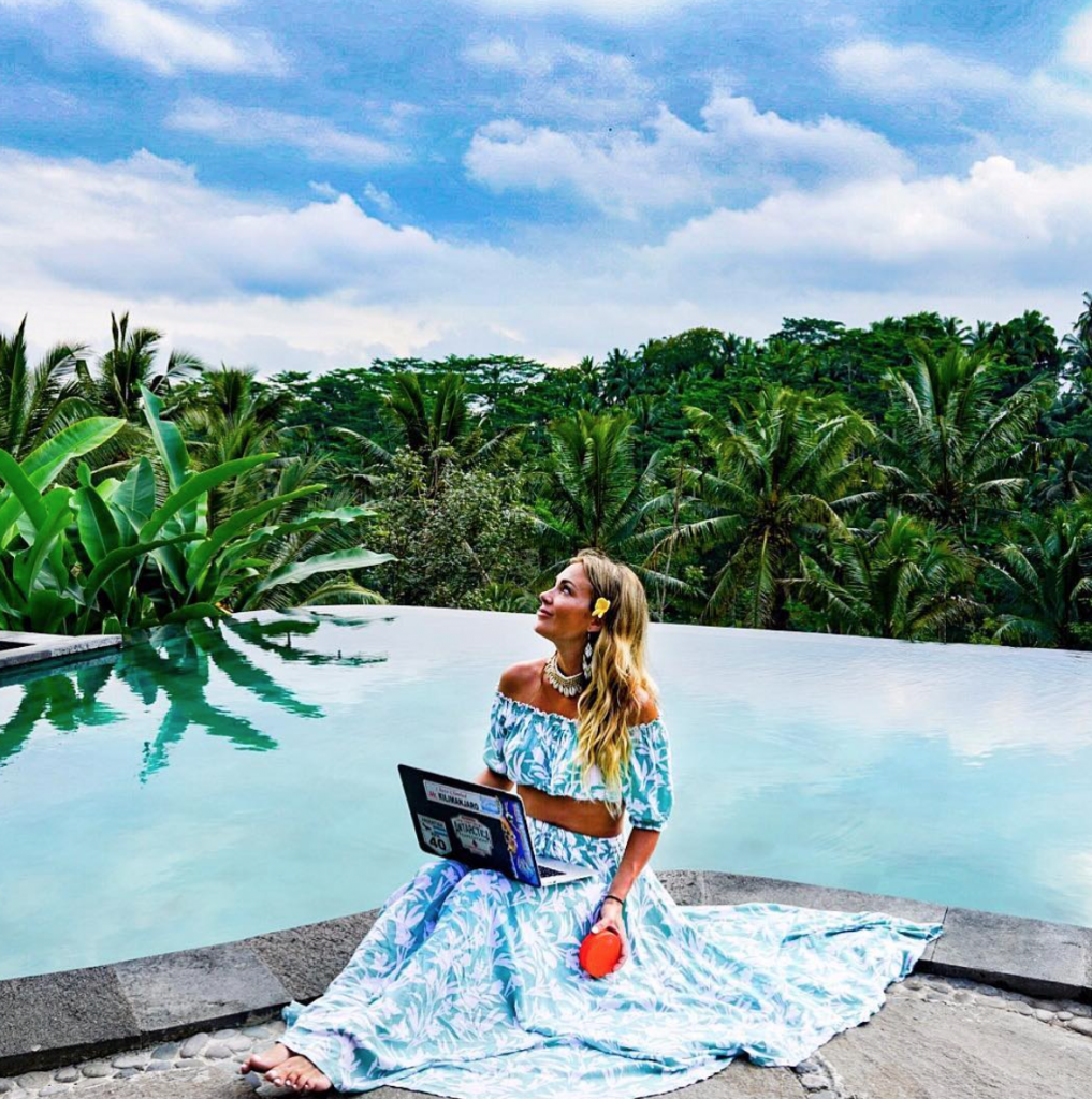 Make money while traveling working as a virtual assistant.