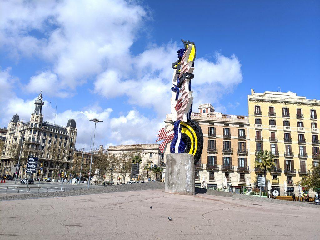 Barcelona cidades vazias durante o bloqueio