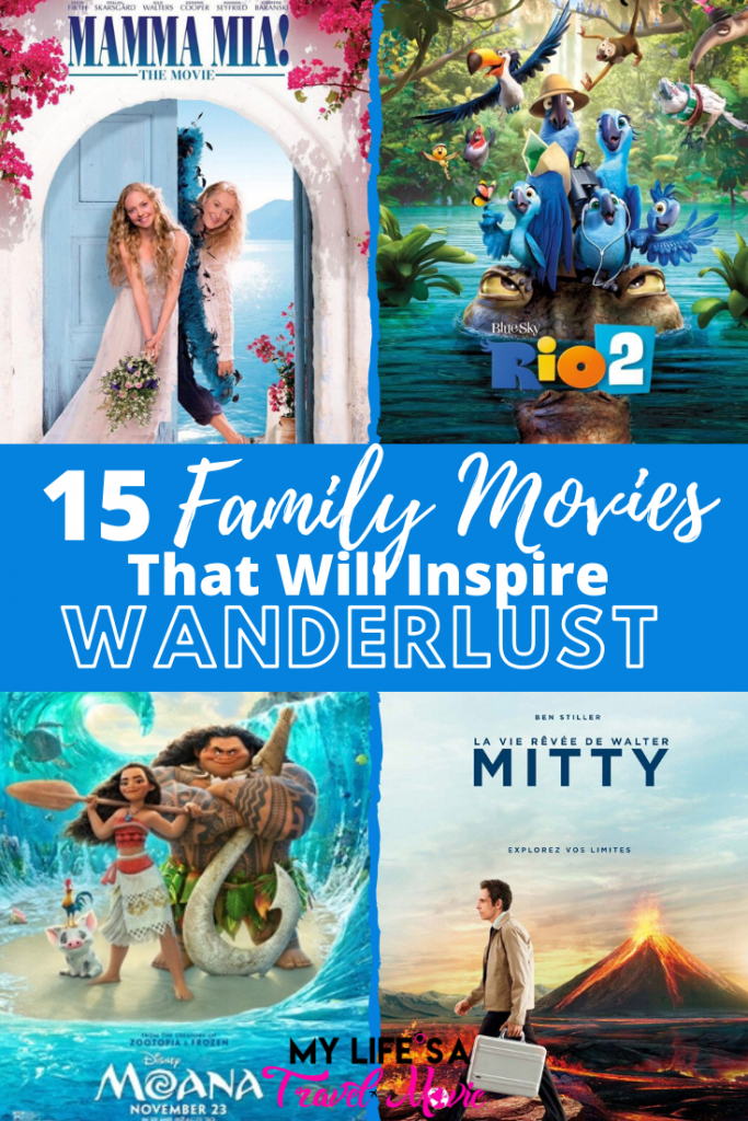 Esses 15 filmes para a família inspirarão sua vontade de viajar enquanto estiver em casa! De animações inspiradoras, como Moana, a clássicos divertidos, como Mama Mia! Veja se você consegue adivinhar onde cada filme ocorre sem ler as legendas! Que filmes de família por desejo de viajar você adicionaria a esta lista?