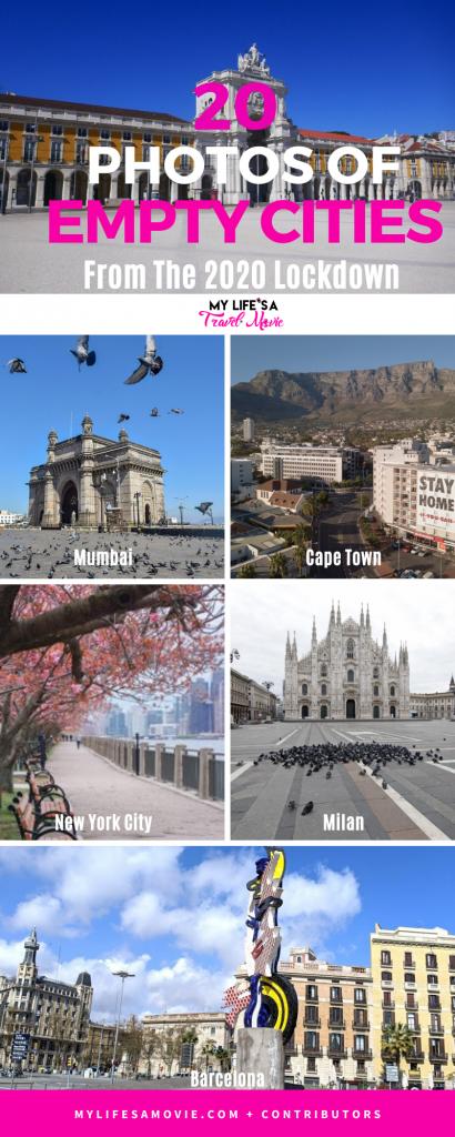 Essas 20 fotos de cidades vazias em todo o mundo desde o bloqueio de 2020 são arrepiantes, mas lindas. Nunca teríamos pensado em ver alguns dos sites mais populares do mundo como lugares abandonados. Confira essas visualizações uma vez na vida, qual você mais choca? #abandonedplaces #emptycities #