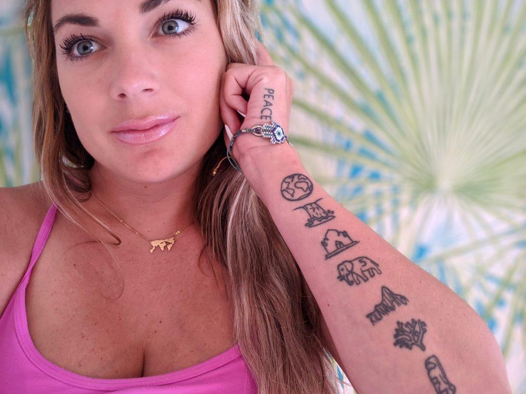 tatuagem de lista de viagens