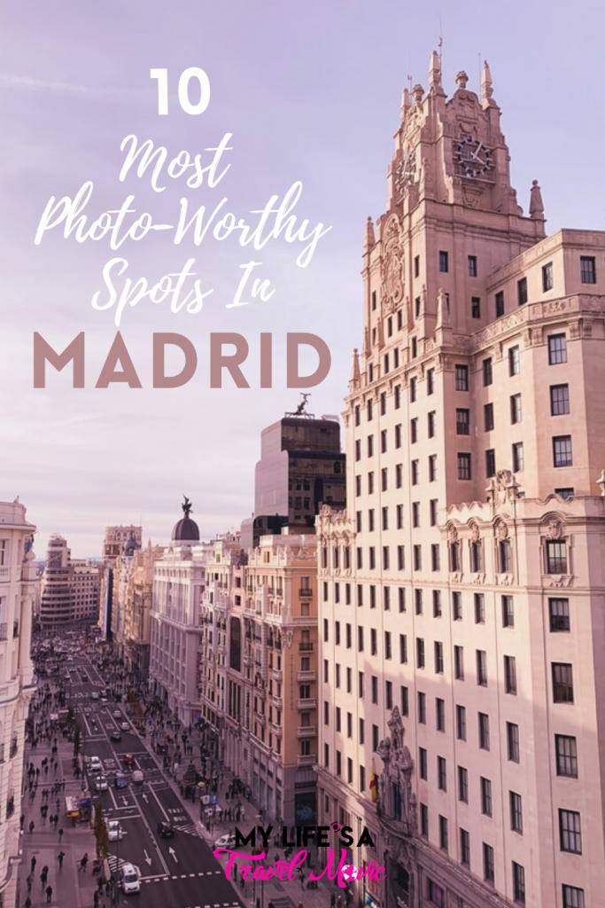 Dez dos melhores locais para fotos de Madri recomendados por um local! Inclui locais secretos do melhor telhado do hotel para fotos dignas de IG quando você está em Madri, Espanha!